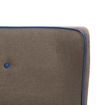 vidaXL Cadru de pat, gri taupe, 120 x 200 cm, material textil