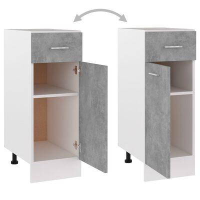 vidaXL Dulap inferior cu sertar, gri beton, 30 x 46 x 81,5 cm, PAL