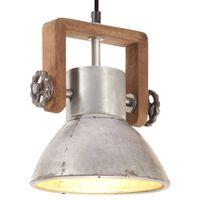 vidaXL Lampă suspendată industrială, 25 W, argintiu, rotund, 19 cm E27