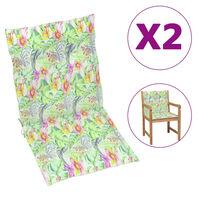 vidaXL Perne scaun de grădină, 4 buc., model frunze, 100 x 50 x 4 cm