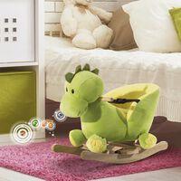 Dragon Balansoar Din Lemn Pentru Copii, Verde Și Galben