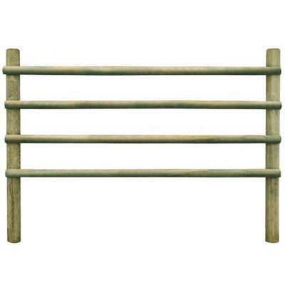 vidaXL Gard pentru grădină, 6 m, lemn de pin tratat