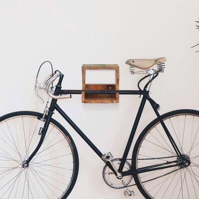 vidaXL Suport bicicletă de perete, 35 x 25 x 25 cm lemn masiv reciclat
