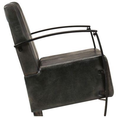 vidaXL Canapea cu 2 locuri, gri uzat, piele naturală