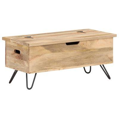 vidaXL Cufăr, 90 x 40 x 45 cm, lemn masiv de mango