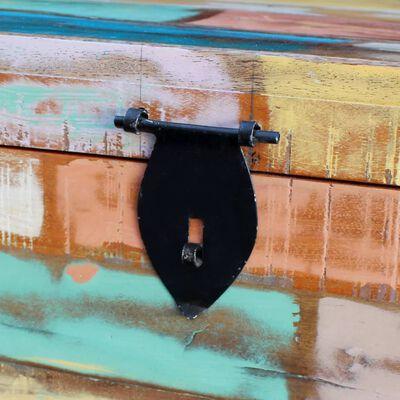 vidaXL Cufăr de depozitare, lemn masiv reciclat
