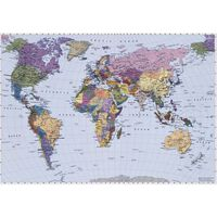 Komar Fototapet mural World Map, 270 x 188 cm, 4-050