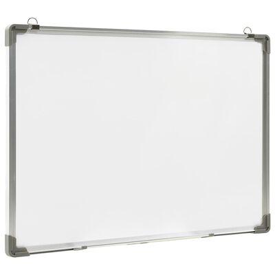 vidaXL Tablă magnetică albă cu ștergere uscată 70x50 cm oțel