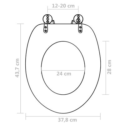 vidaXL Scaune WC cu capac, 2 buc., MDF, model savană