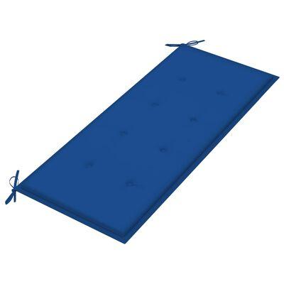 vidaXL Bancă de grădină, perne albastru regal, 240 cm, lemn masiv tec