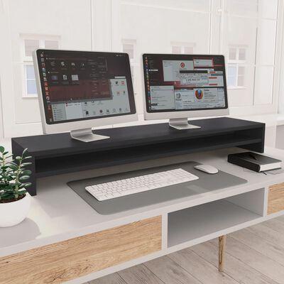 vidaXL Suport monitor, gri, 100 x 24 x 13 cm, PAL