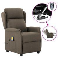 vidaXL Electric Massage Recliner Taupe Fabric (289794+327164)