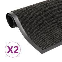 vidaXL Covoare ușă anti-praf, 2 buc. negru, 40x60 cm, dreptunghiular
