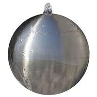 vidaXL Fântână sferică de grădină cu LED-uri, 30 cm, oțel inoxidabil