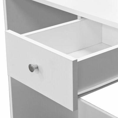 vidaXL Masă de toaletă, PAL, 75x40x141 cm, alb