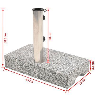 vidaXL Suport umbrelă de soare Granit Dreptunghiular 25 kg