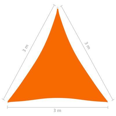 vidaXL Parasolar, portocaliu, 3x3x3 m, țesătură oxford, triunghiular