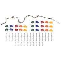 vidaXL Pietre de cățărat cu funie, 25 buc., multicolor