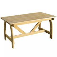 vidaXL Masă de grădină, 150 x 74 x 75 cm, lemn de pin tratat
