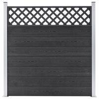 vidaXL Gard de grădină, gri, 180 x 185 cm, WPC