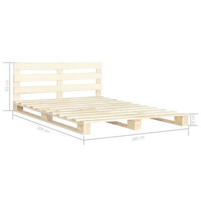 vidaXL Cadru de pat din paleți, 180 x 200 cm, lemn masiv de pin