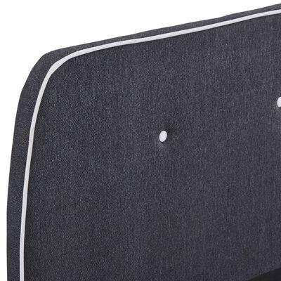 vidaXL Cadru de pat, gri închis, 160 x 200 cm, material textil