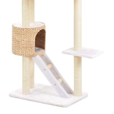 vidaXL Ansamblu pentru pisici, stâlp cu funie de sisal, iarbă de mare