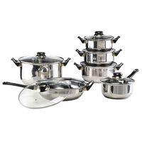 HI Set vase de gătit, 12 piese, oțel inoxidabil