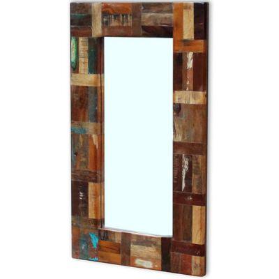 vidaXL Oglindă, 80x50 cm, lemn masiv reciclat
