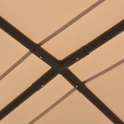 vidaXL Pavilion foișor cort cu baldachin, 4x4 m, oțel, bej