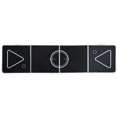 vidaXL Masă de joc cu bere tip ping pong, pliabilă, negru, 240 cm
