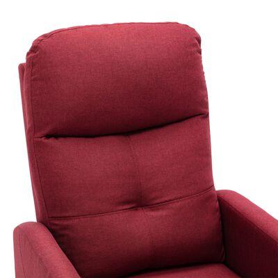 vidaXL Fotoliu de masaj rabatabil electric, roșu vin, textil