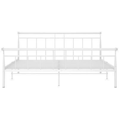 vidaXL Cadru de pat, alb, 180x200 cm, metal