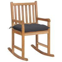 vidaXL Scaun balansoar cu pernă antracit, lemn masiv de tec