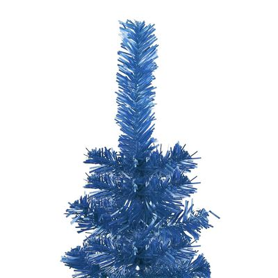 vidaXL Brad de Crăciun subțire, albastru, 180 cm