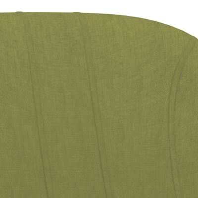 vidaXL Scaune de bar, 2 buc., verde, material textil