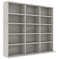 vidaXL Dulap pentru CD-uri, gri beton, 102 x 23 x 89,5 cm, PAL