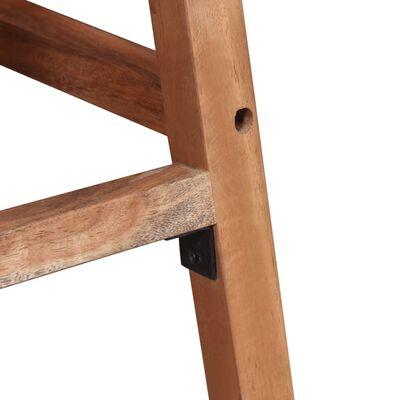 vidaXL Scaune de bar, lemn masiv de acacia, 38 x 37 x 76 cm, 2 buc.