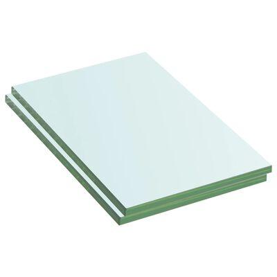 vidaXL Rafturi, 2 buc., 20 x 12 cm, panouri sticlă transparentă