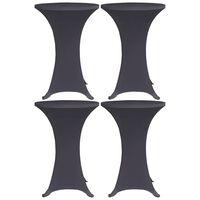 vidaXL Husă elastică pentru masă, 4 buc., antracit, 80 cm