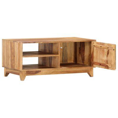 vidaXL Comodă TV, 90 x 45 x 40 cm, lemn masiv de sheesham