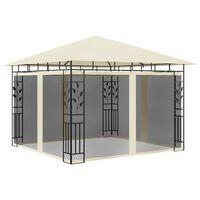 vidaXL Pavilion cu plasă anti-țânțari, crem, 3x3x2,73 m, 180 g/m²