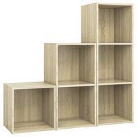 vidaXL Set de dulapuri TV, 3 piese, stejar Sonoma, PAL