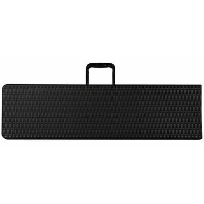 Perel Bancă pliabilă cu model răchită, negru, FP160R