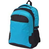 vidaXL Rucsac pentru școală, 40 L, negru și albastru