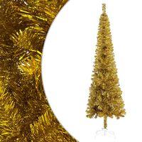 vidaXL Slim Christmas Tree Gold 240 cm