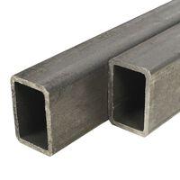 vidaXL Tuburi oțel structural, 2 buc., dreptunghiular 1m, 60x40x3 mm