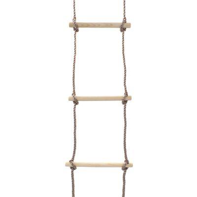 vidaXL Scară din frânghie pentru copii, 290 cm, lemn