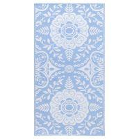 vidaXL Covor de exterior, bleu, 80x150 cm, PP