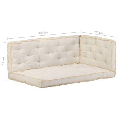 vidaXL Set de perne pentru canapea din paleți, 3 piese, bej